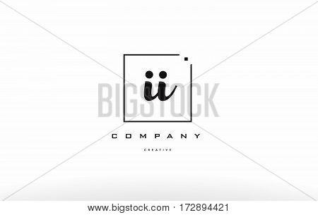 Ii I I Hand Writing Letter Company Logo Icon Design