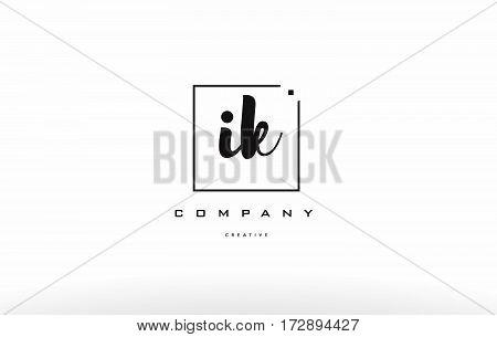Ik I K Hand Writing Letter Company Logo Icon Design