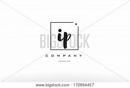 Ip I P Hand Writing Letter Company Logo Icon Design