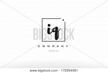 Iq I Q Hand Writing Letter Company Logo Icon Design