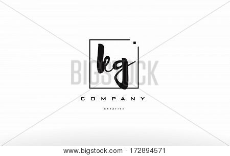 Kg K G Hand Writing Letter Company Logo Icon Design