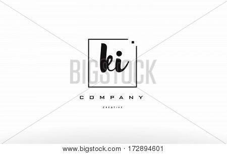 Ki K I Hand Writing Letter Company Logo Icon Design