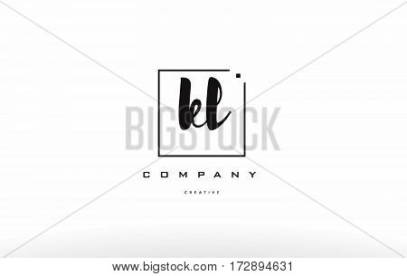 Kl K L Hand Writing Letter Company Logo Icon Design