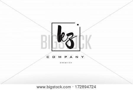 Kz K Z Hand Writing Letter Company Logo Icon Design