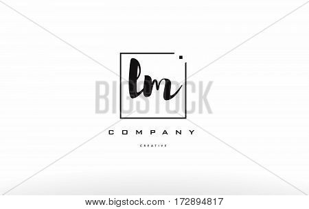 Lm L M Hand Writing Letter Company Logo Icon Design
