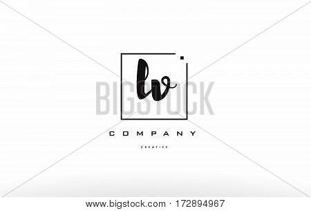 Lv L V Hand Writing Letter Company Logo Icon Design