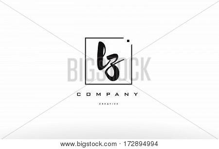 Lz L Z Hand Writing Letter Company Logo Icon Design