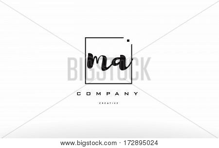 Ma M A Hand Writing Letter Company Logo Icon Design