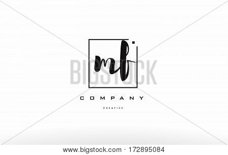 Mf M F Hand Writing Letter Company Logo Icon Design