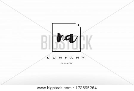 Na N A Hand Writing Letter Company Logo Icon Design