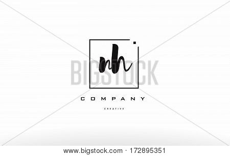 Nh N H Hand Writing Letter Company Logo Icon Design
