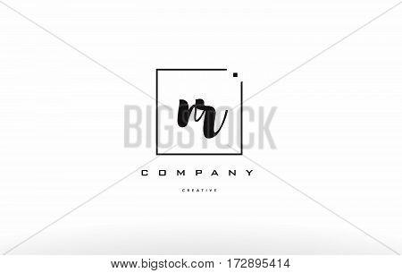 Nr N R Hand Writing Letter Company Logo Icon Design