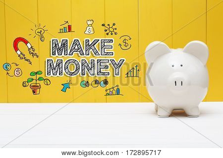 Make Money Text With Piggy Bank
