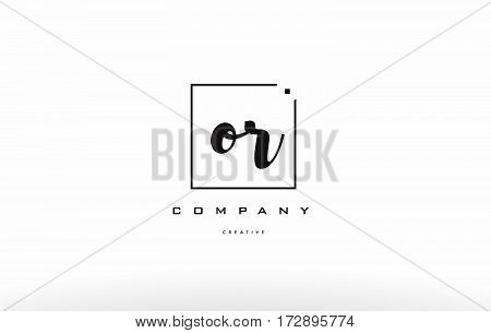 Or O R Hand Writing Letter Company Logo Icon Design