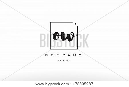 Ow O W Hand Writing Letter Company Logo Icon Design