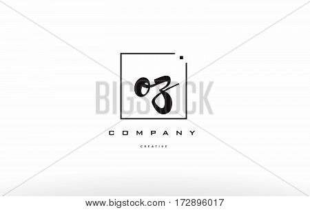 Oz O Z Hand Writing Letter Company Logo Icon Design