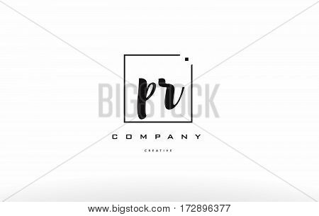Pr P R Hand Writing Letter Company Logo Icon Design