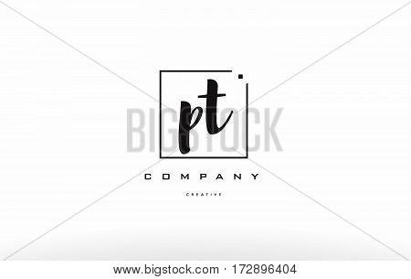 Pt P T Hand Writing Letter Company Logo Icon Design
