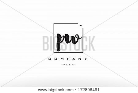 Pw P W Hand Writing Letter Company Logo Icon Design