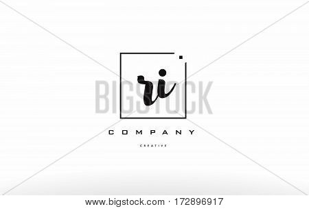 Ri R I Hand Writing Letter Company Logo Icon Design