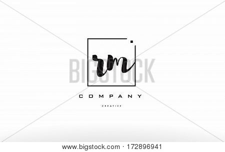 Rm R M Hand Writing Letter Company Logo Icon Design
