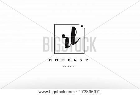 Rl R L Hand Writing Letter Company Logo Icon Design