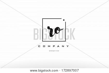 Ro R O Hand Writing Letter Company Logo Icon Design