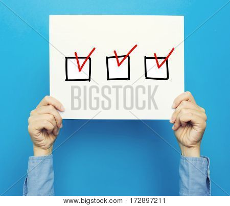 Checklist On White Poster