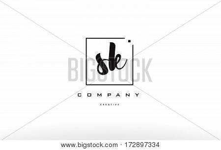 Sk S K Hand Writing Letter Company Logo Icon Design