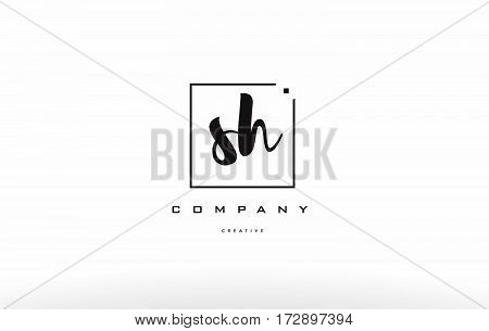 Sh S H Hand Writing Letter Company Logo Icon Design