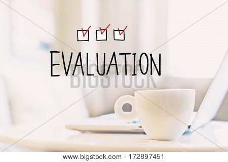 Evaluation Concept With A Cup Of Coffee