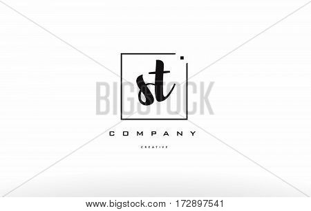 St S T Hand Writing Letter Company Logo Icon Design