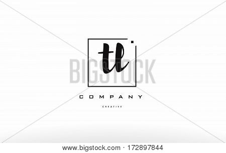 Tl T L Hand Writing Letter Company Logo Icon Design