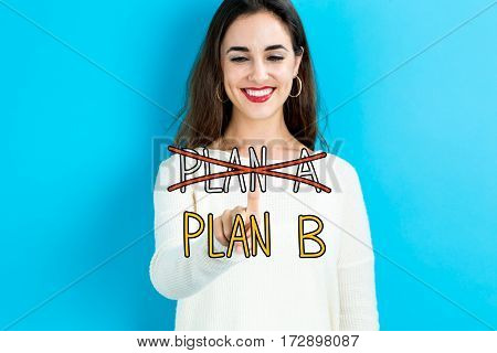 Plan B Text With Young Woman