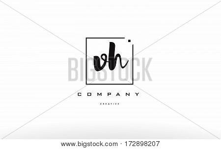 Vh V H Hand Writing Letter Company Logo Icon Design