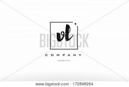 Vl V L Hand Writing Letter Company Logo Icon Design