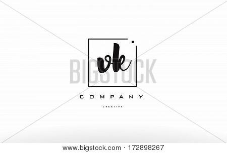 Vk V K Hand Writing Letter Company Logo Icon Design