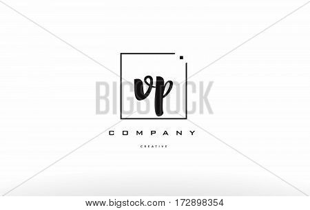 Vp V P Hand Writing Letter Company Logo Icon Design