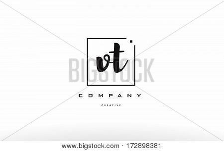 Vt V T Hand Writing Letter Company Logo Icon Design