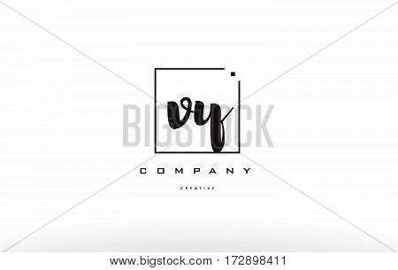 Vy V Y Hand Writing Letter Company Logo Icon Design