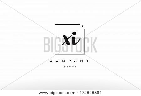 Xi X I Hand Writing Letter Company Logo Icon Design