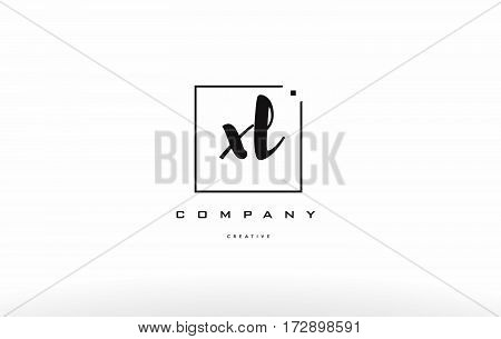 Xl X L Hand Writing Letter Company Logo Icon Design