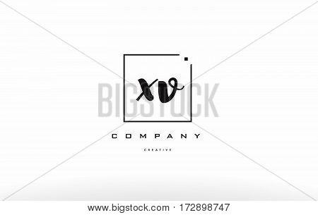 Xv X V Hand Writing Letter Company Logo Icon Design