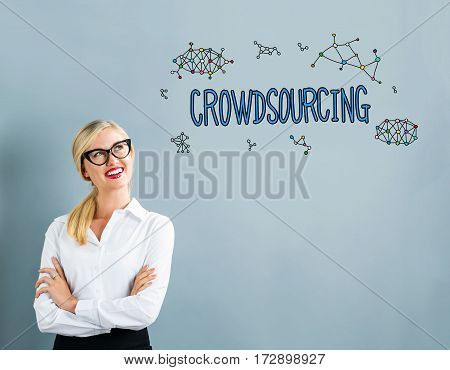 Crowdsourcing Text With Business Woman