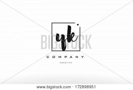 Yk Y K Hand Writing Letter Company Logo Icon Design