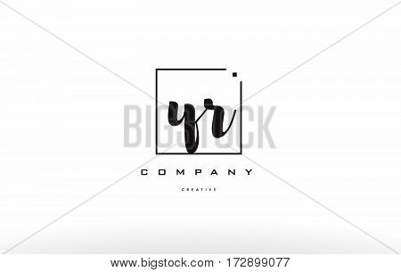 Yr Y R Hand Writing Letter Company Logo Icon Design