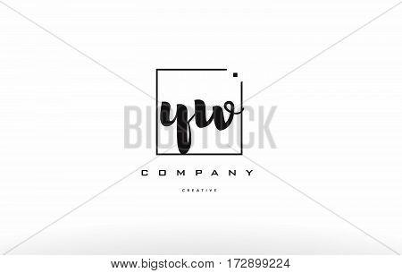 Yw Y W Hand Writing Letter Company Logo Icon Design