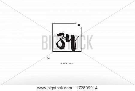 Zz Z Hand Writing Letter Company Logo Icon Design