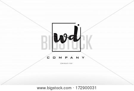 Wd W D Hand Writing Letter Company Logo Icon Design