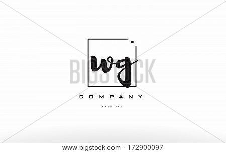 Wg W G Hand Writing Letter Company Logo Icon Design